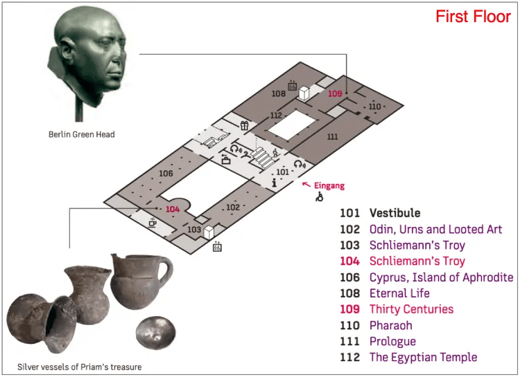 Neues Museum First floor layout