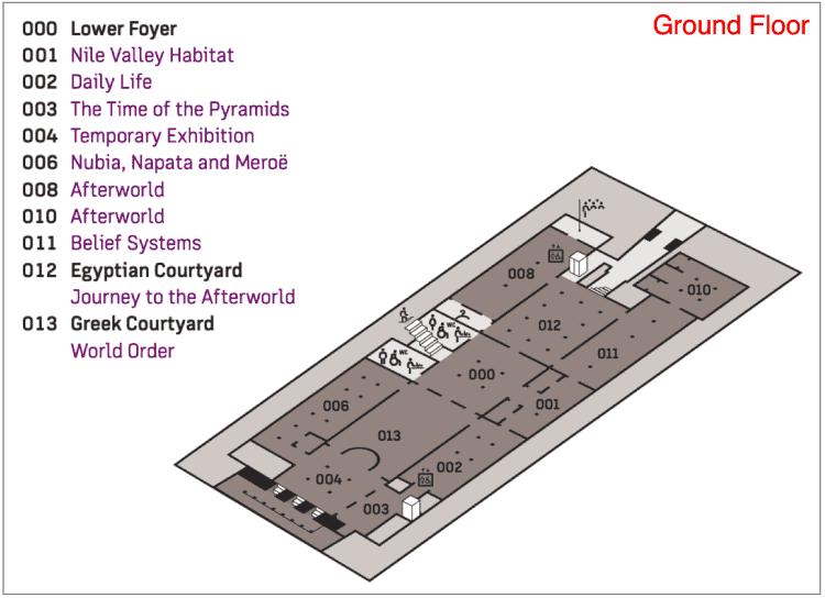 Neues Museum Ground Floor map
