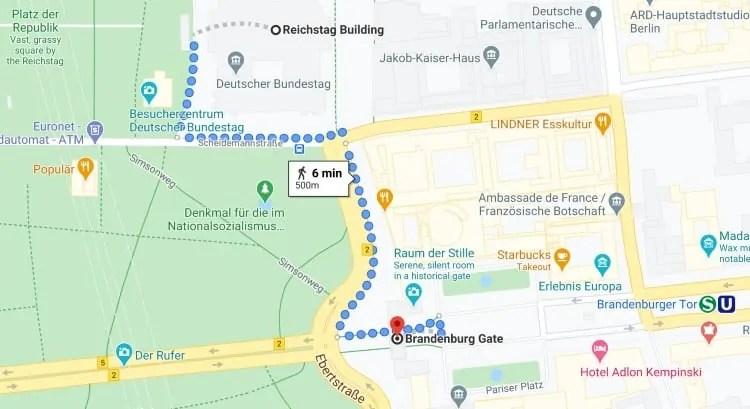 Reichstag Building to Brandenburg Gate