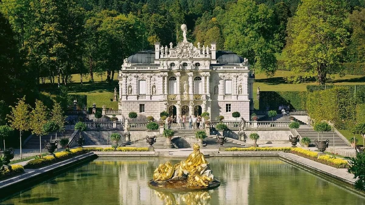 Linderhof Palace in Ettal