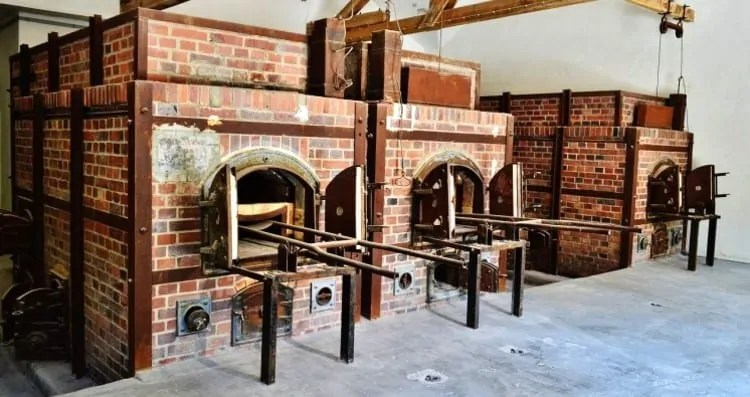 Crematorium at Dachau Memorial site