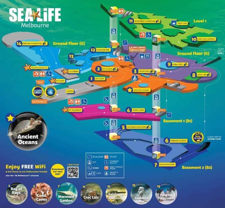 Melbourne Aquarium map