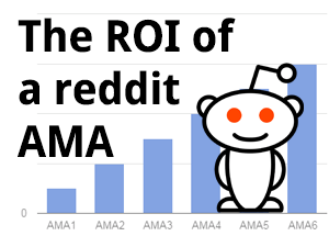 The ROI of a reddit AMA