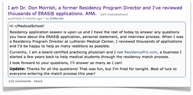 medical school reddit ama