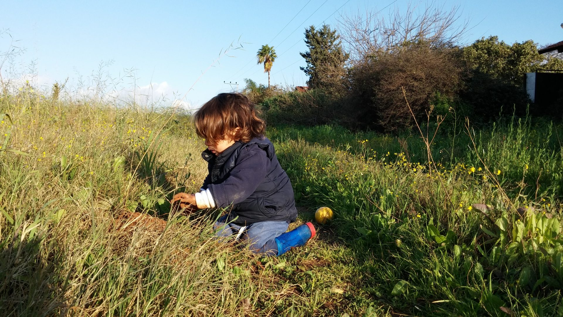 kid in field