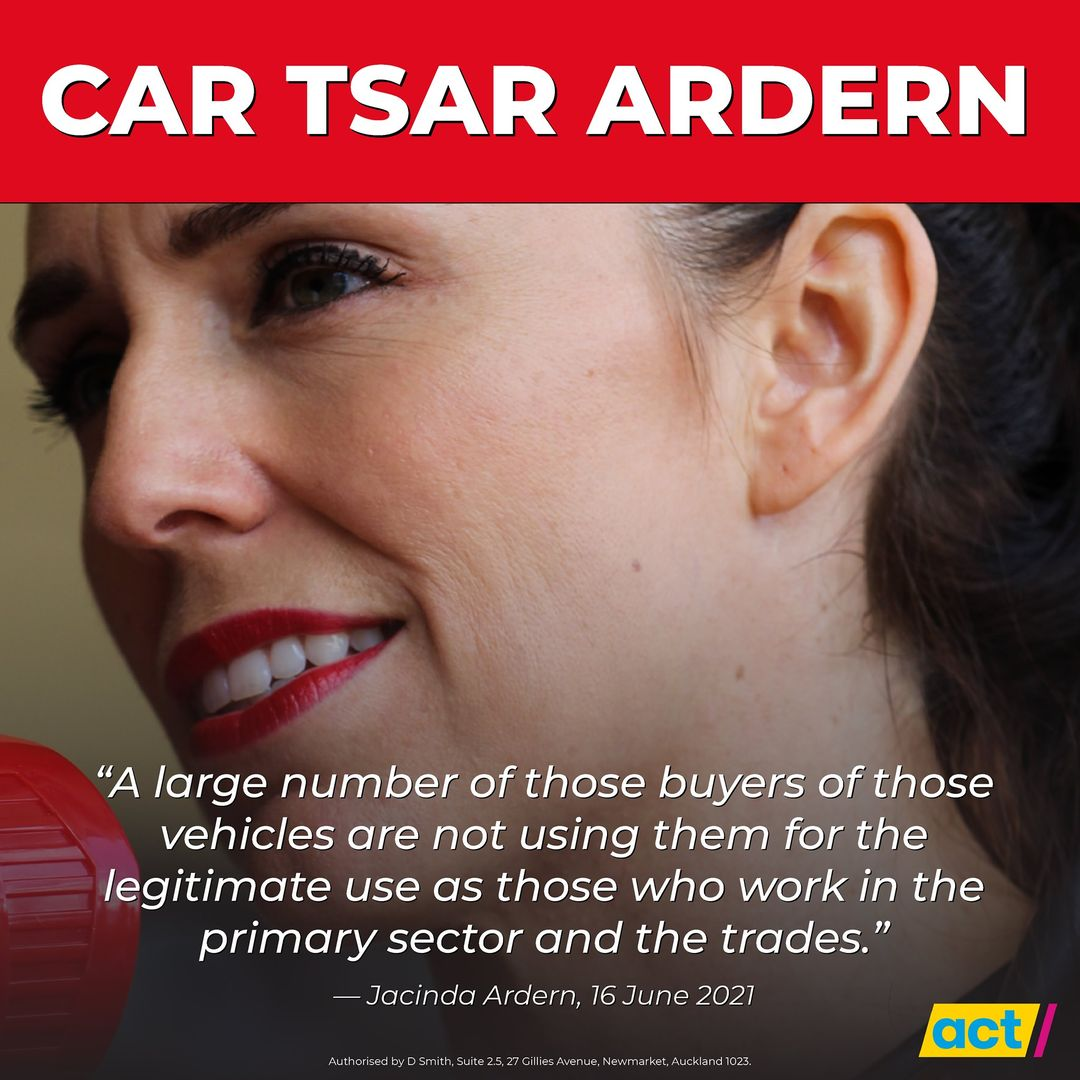 Ardern Assumes Role of Car Tsar
