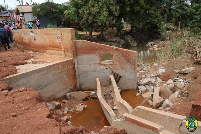 Brace for more floods in Kumasi --as structures still occupy waterways
