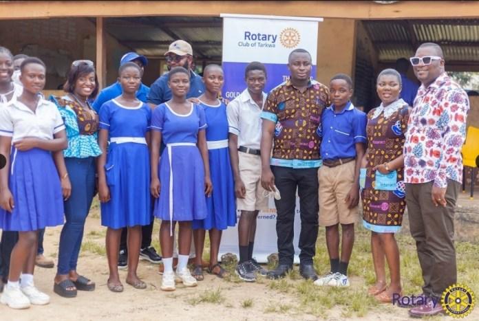 The Rotary Club of Tarkwa donate educational materials