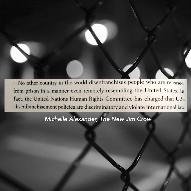 Quote from The New Jim Crow by Michelle Alexander