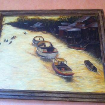 Bruno's boat painting Rather good I think