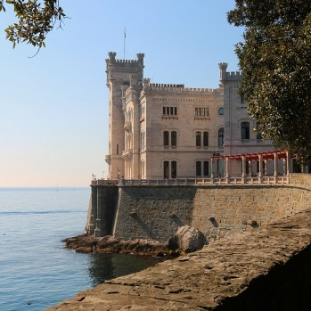 The elegant Miramare Castle in Trieste, built in the C19th for Austrian Archduke Ferdinand Maximilian