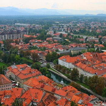 View of city from Ljubljana Castle