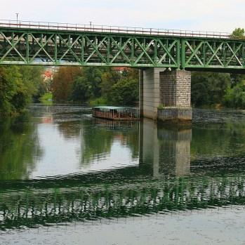 River on outskirts of Novo Mesto, near Croatian border