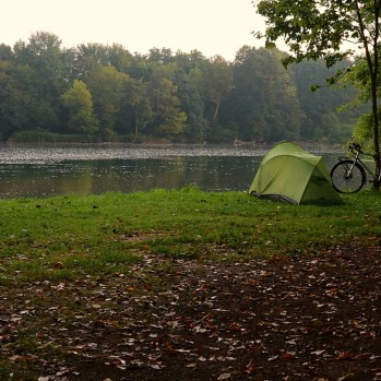 Novo Mesto campsite by day.