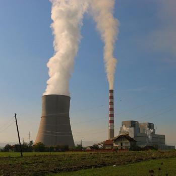 Factory en route to Pristina.