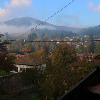 View of beautiful Koprivshtitsa from my guesthouse balcony.