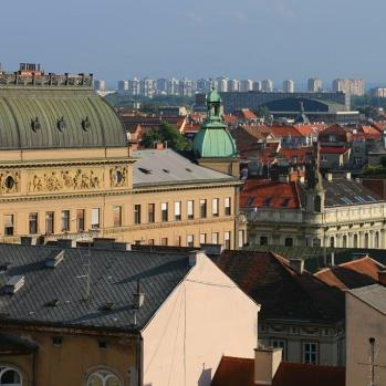 Zagreb rooftops.