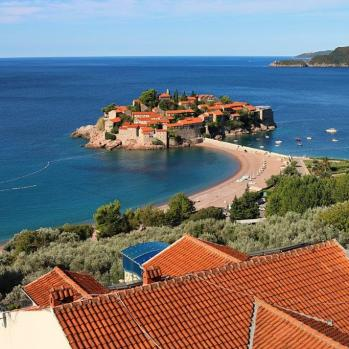 Sveti Stefan, a beautiful islet acquired by the Yugoslav government and turned into an upscale hotel during the Tito regime. Now a 5* hotel resort where rooms go for thousands of euros. A big shame.