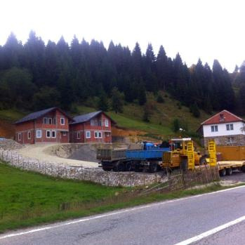 Building work near Rozaje, Montenegro. The country is basically one giant construction site.
