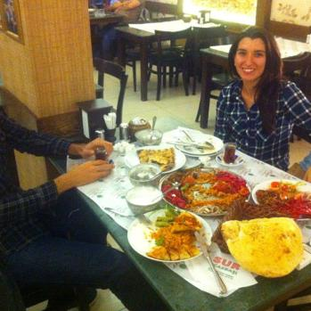 Meal at the excellent Sur Kebab restaurant with my Couchsurfing host and his girlfriend. Look, the thighs have got to be fed somehow.
