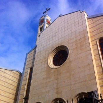 The Cathedral of St Joseph, rebuilt in 2006 after being destroyed in World War II. Sits on the same square as the synagogue and mosque, in a beautiful symbol of tolerance.