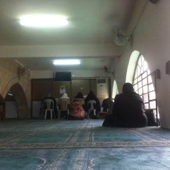 King Abdullah Mosque, ladies quarters. Distinctly less impressive than the men's next door.