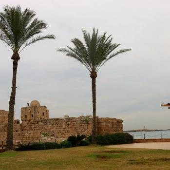 Sidon's Sea Castle, built by the crusaders as a fortress of the holy land in the 13th century.