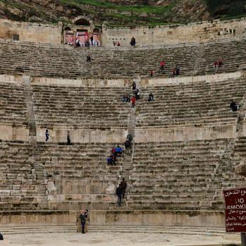 The Roman theatre, built in the 2nd century AD.