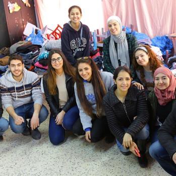 Volunteers from IFMSA.