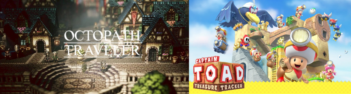 Octopath Traveler and Captain Toad - Two Switch hits release today!