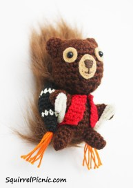 Crochet a jet pack for your squirrel friend!
