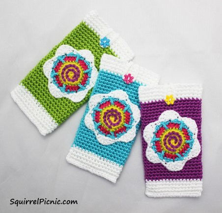 Inspired by vintage flower seed packets, this phone case is colorful and bright and displays a flower unlike any other in the world – a Tall 'n' Fast Flower! This pattern is easily adaptable to fit cell phones of any size.