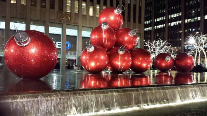 large christmas ornaments Radio city new york