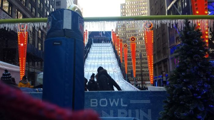 super bowl toboggan ride