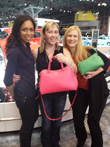 The New York International Auto show kate spade bag prize