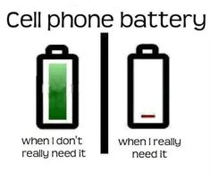 low battery funny