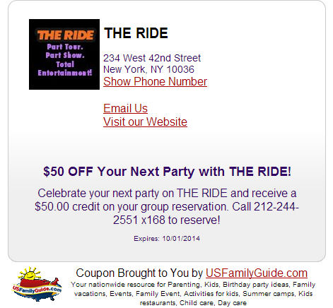 the ride nyc coupon