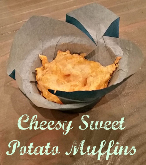 cheesy sweet potato muffins