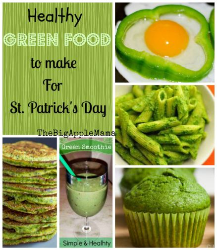 healthy green foods to make for st. patricks day