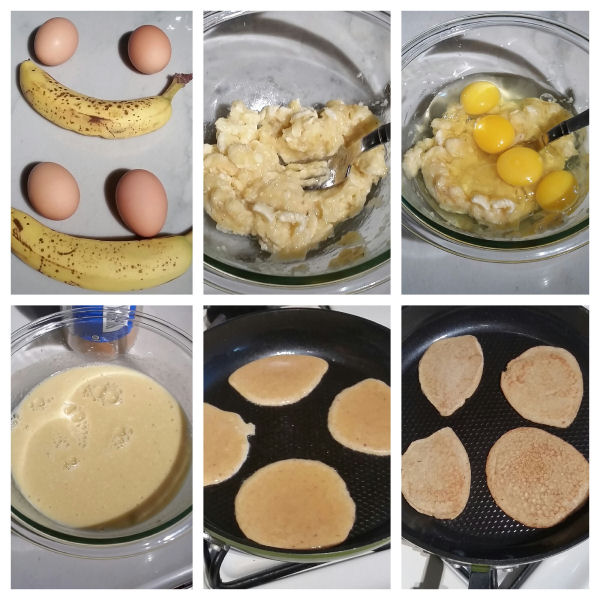2 ingredients for banana pancakes