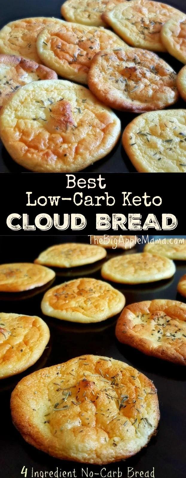 Best Low-Carb Keto Cloud Bread, Only 4 simple ingredients