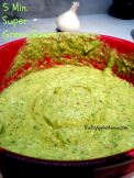 5-Minute SUPER Green Sauce - use as a dip, sauce or dressing. Simple ingredients avocado, parsley, cilantro, garlic, and lime. Vegan, Gluten Free and low carb!