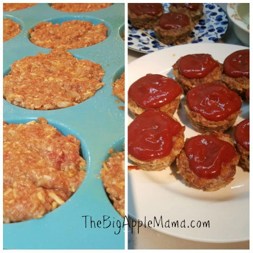 meatloaf cupcake in a muffin pan. Bake for 30 minutes at 350, then spread the ketchup mixture and