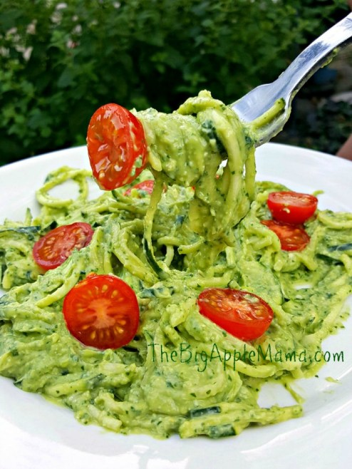 home made avocado pesto