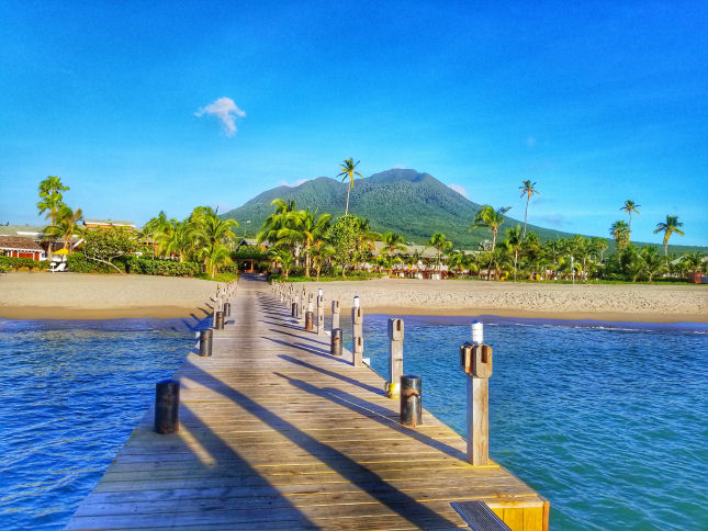 View Of Mt Nevis Peak on a clear day from Four Seasons resort