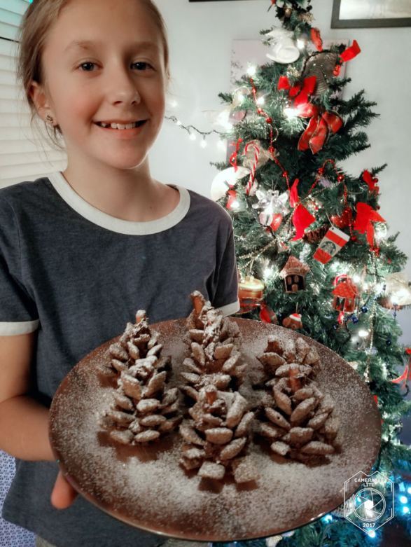 How to make Snowy Chocolate Pine cones