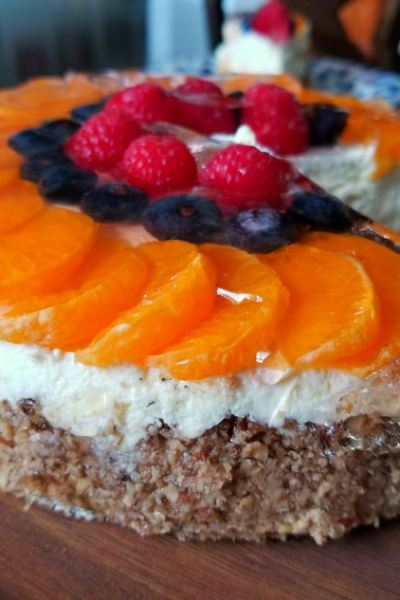 Festive Low Carb Dessert (Instant Pot Mandarin Cheesecake)