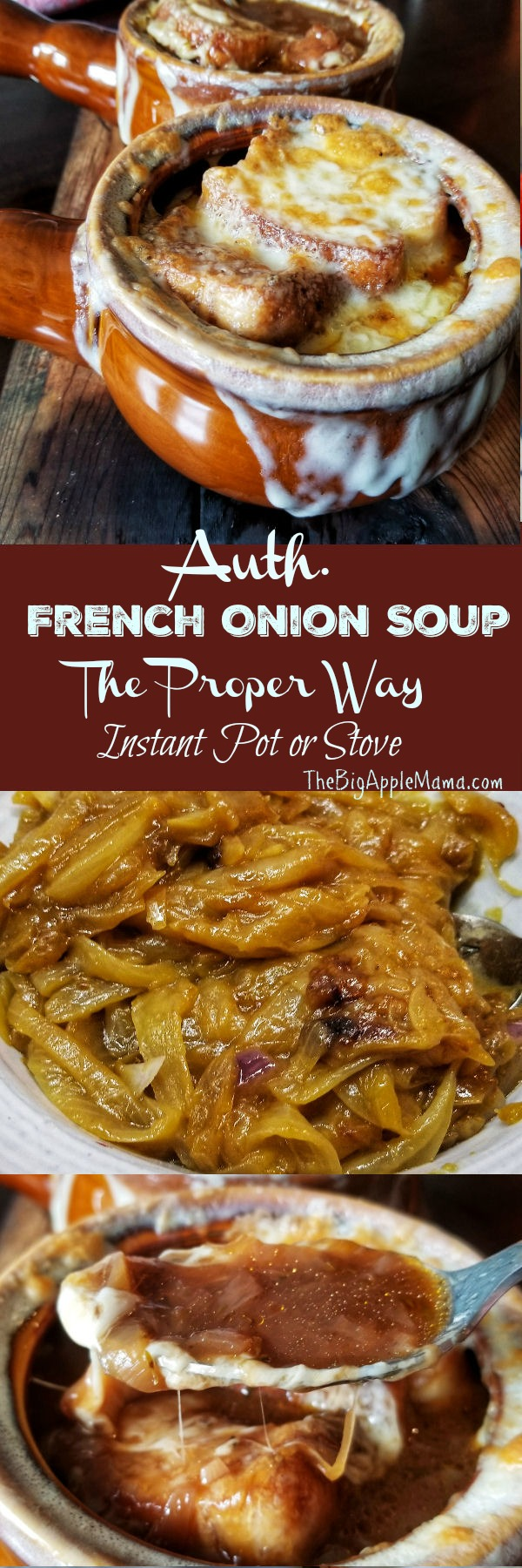 The Best French Onion Soup, Instant Pot or Stove top