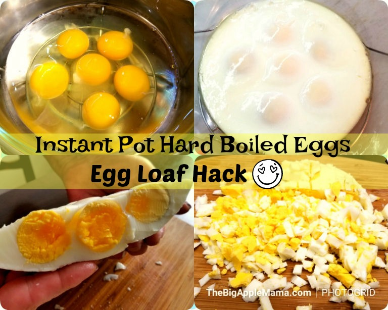 How to make easy hard boiled eggs in Instant Pot. Egg Loaf hack