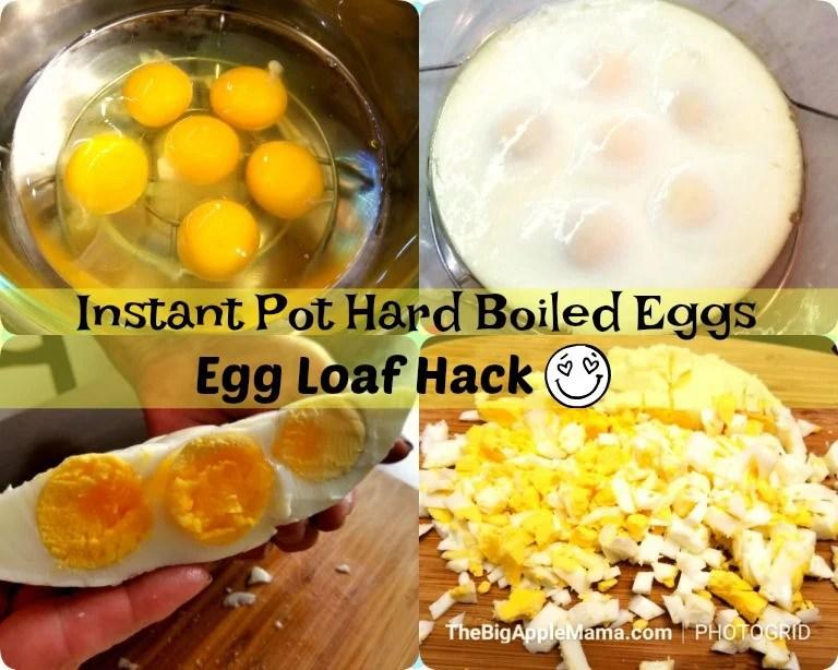 How to make easy hard boiled eggs in Instant Pot. Egg Loaf hack